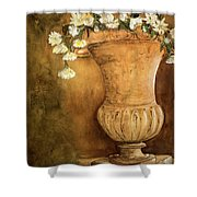 Flowering Urn Shower Curtain