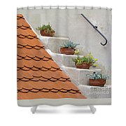 Flowerpots Ascending Shower Curtain