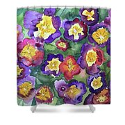 Pansy Party Shower Curtain