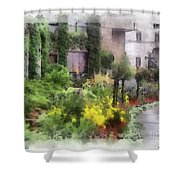 Flowers Along The Pathway Shower Curtain
