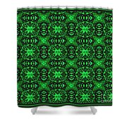 Flowers And Bees Abstract Shower Curtain