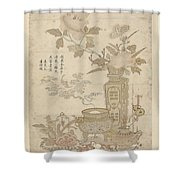 Flowers And Burning Censer, Anonymous Shower Curtain