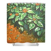 Flowers And Earth Shower Curtain