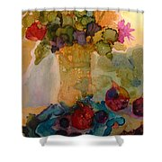 Flowers And Figs Shower Curtain