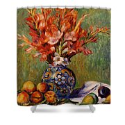 Flowers And Fruit 1889 Shower Curtain