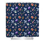 Flowers And Hummingbirds 2 Shower Curtain