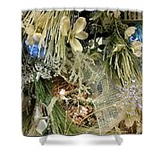 Flowers And Icicles Shower Curtain