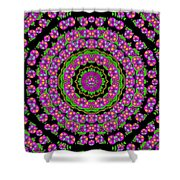 Flowers And More Floral Dancing A Power Peace Dance Shower Curtain