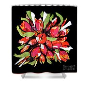 Flowers, Art Collage Shower Curtain