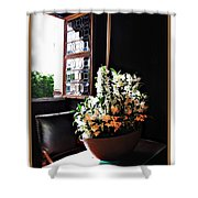 Flowers At Chenonceau Shower Curtain