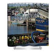 Flowers At Fisherman's Terminal Shower Curtain