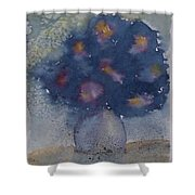 Flowers At Night Original Abstract Gothic Surreal Art Shower Curtain