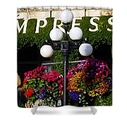 Flowers At The Empress Shower Curtain