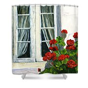 Flowers At The Window Shower Curtain