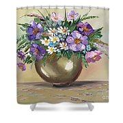 Flowers,still Life Shower Curtain