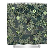 Flowers Fabric Print Design Shower Curtain