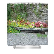 Flowers Floating Shower Curtain