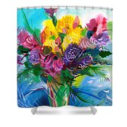 Flowers For My Jesus Shower Curtain