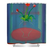 Flowers In A Bay Window Shower Curtain