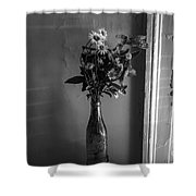 Flowers In A Peculiar Vase Shower Curtain