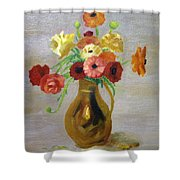 Flowers In A Pitcher -11 Yrs Old Shower Curtain
