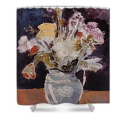 Flowers In A Pitcher Shower Curtain