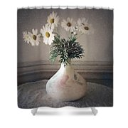 Flowers In A Pot Shower Curtain