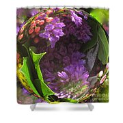 Flowers In A Raindrop Shower Curtain