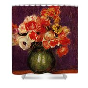 Flowers In A Vase 1901 Shower Curtain