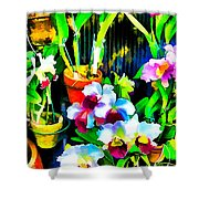 Flowers In Abstract 18 Shower Curtain