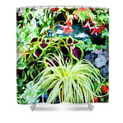 Flowers In Garden 3 Shower Curtain