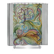 Flowers In Motion Shower Curtain