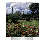Flowers In Sultanahmet Square Shower Curtain