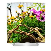 Flowers In The Sky Shower Curtain