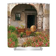 Flowers In The South Wing, Mission San Juan Capistrano, California Shower Curtain