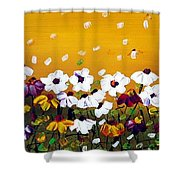 Flowers In The Sunset  Shower Curtain
