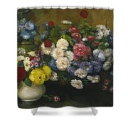 Flowers In Three Vases 1879 Shower Curtain