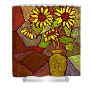 Flowers In Vase Altered Shower Curtain