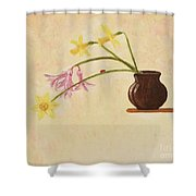 Flowers In Vase Shower Curtain