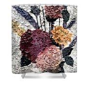 Flowers In Winter Shower Curtain