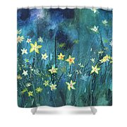 Flowers N Breeze Shower Curtain