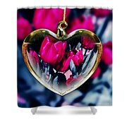 Flowers Of The Heart Shower Curtain