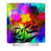 Flowers Of The I-magi-nation Shower Curtain