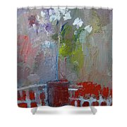 Flowers On A Table Shower Curtain