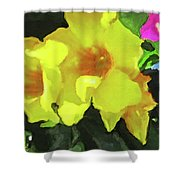 Flowers On Deck Shower Curtain