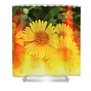 Flowers On Fire Shower Curtain