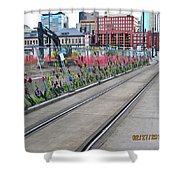 Flowers On The Fence Shower Curtain