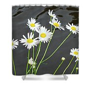 Flowers On The Water Shower Curtain