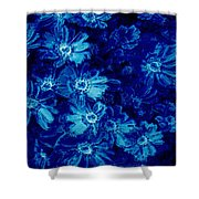 Flowers On Tiles Shower Curtain
