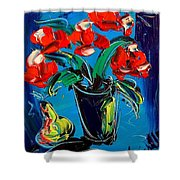 Flowers Roses Shower Curtain
